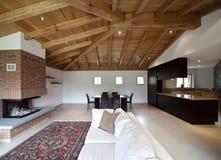 Lovely new house, modern interior Royalty Free Stock Photos