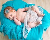 Lovely newborn baby sleeps Stock Photography