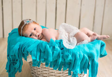 Lovely newborn baby sleeps Royalty Free Stock Photography