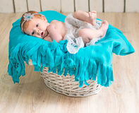 Lovely newborn baby sleeps Stock Photo