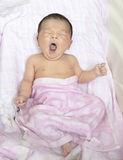 Lovely newborn bath Royalty Free Stock Photos