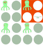 Lovely octopuses Stock Image
