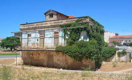 Lovely old building in poor state of repair Lagos Stock Photography