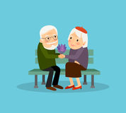 Lovely old couple Stock Photos