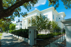 Lovely old greek revival house under a sunny sky Royalty Free Stock Image
