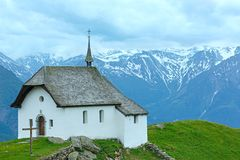 Lovely old Mountain Church in Village of Bettmeralp(Switzerland) Royalty Free Stock Image