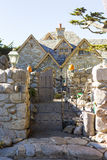 Lovely old stone house. With stone fence Stock Photos