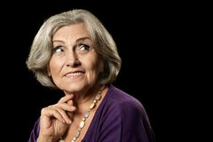 Lovely old woman Royalty Free Stock Photography