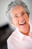 Lovely old woman laughing Royalty Free Stock Photo