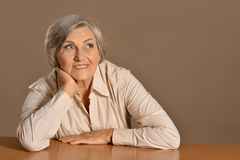 Lovely old woman Royalty Free Stock Photos