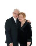 Lovely older couple embracing. Stock Photo