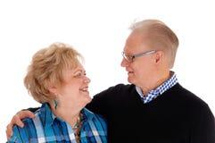 Lovely older couple smiling. Royalty Free Stock Photo