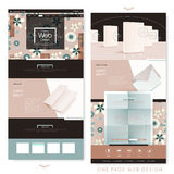 Lovely one page website template design Stock Image