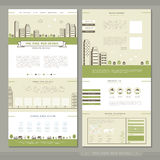 Lovely one page website template design Stock Photography