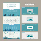 Lovely one page website template design Royalty Free Stock Photo