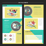 Lovely one page website template design Stock Photos