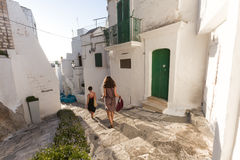 Lovely ostuni`s narrows in italy Royalty Free Stock Images