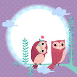 Lovely owls Stock Photo