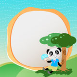 Lovely panda with frame. There is lovely panda with frame Stock Photos