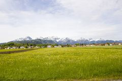 Lovely panorama in the alps in Germany Royalty Free Stock Images