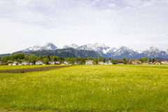 Lovely panorama in the alps Stock Photos