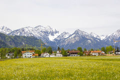 Lovely panorama in the alps Royalty Free Stock Photos