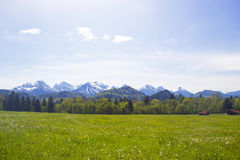 Lovely panorama in the alps Stock Images