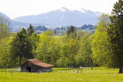 Lovely panorama in the alps, Germany Stock Photography