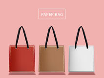 Lovely paper bags set Royalty Free Stock Photos