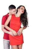 Lovely passion couple Stock Photos