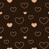 Lovely pastel pink heart seamless pattern background illustration Stock Photo