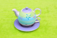 Lovely pastel teapot Stock Image