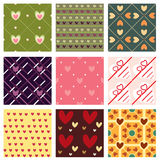 Lovely patterns Stock Image