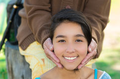 Lovely picture young girl headshot smiling Stock Photo