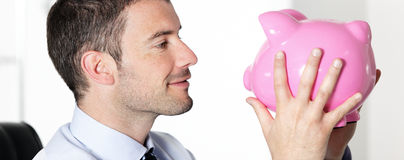 Lovely piggy bank Royalty Free Stock Photo