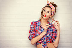 Lovely pin-up Stock Photos