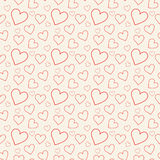 Lovely pink background with hearts. For your design Stock Photography