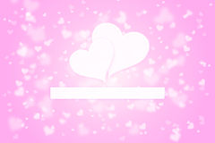 Lovely pink colored search love concept Stock Images