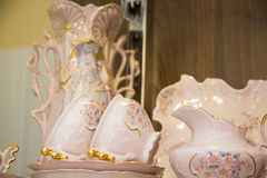 Lovely pink tea set Royalty Free Stock Photo
