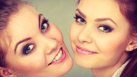 Lovely playful sisters women portrait. Royalty Free Stock Photos