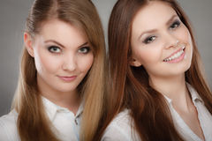 Lovely playful sisters women portrait. Royalty Free Stock Photo