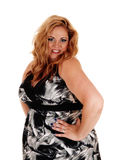 Lovely plus size blond woman. Stock Photos