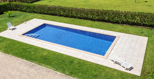Lovely pool in the garden in park. royalty free stock image