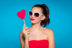 Lovely pop girl Royalty Free Stock Photos