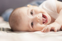 Lovely portrait of beautiful little tot Stock Photo