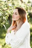 Lovely portrait of a beautiful woman royalty free stock images