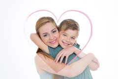 Lovely portrait of boy and girl Royalty Free Stock Photo