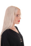 Lovely portrait of a young woman in profile Royalty Free Stock Photos