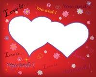 Lovely postcard. Valentine day festive postal to the day of valentine Stock Photography
