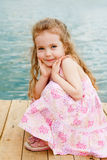 Lovely preschool girl Stock Images